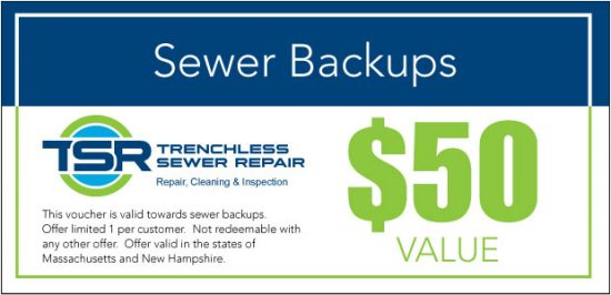 Sewer backups coupon.