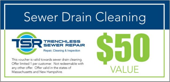 Sewer drain cleaning coupon.